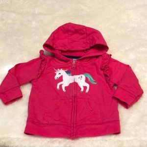 Carter's | Baby Girl Pink Unicorn Sweatshirt